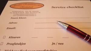 Service checklist